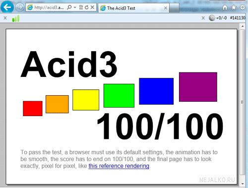Тест acid3 для IE9