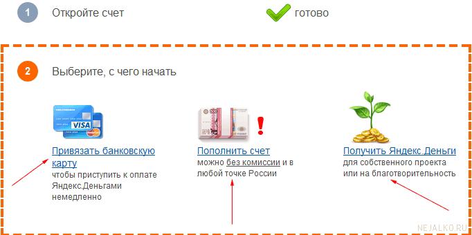 Варианты действий в новом Яндекс кошельке