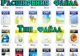 Расширение файла, тип файла