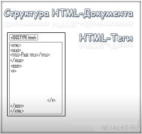 Структура HTML документа, HTML - тэги